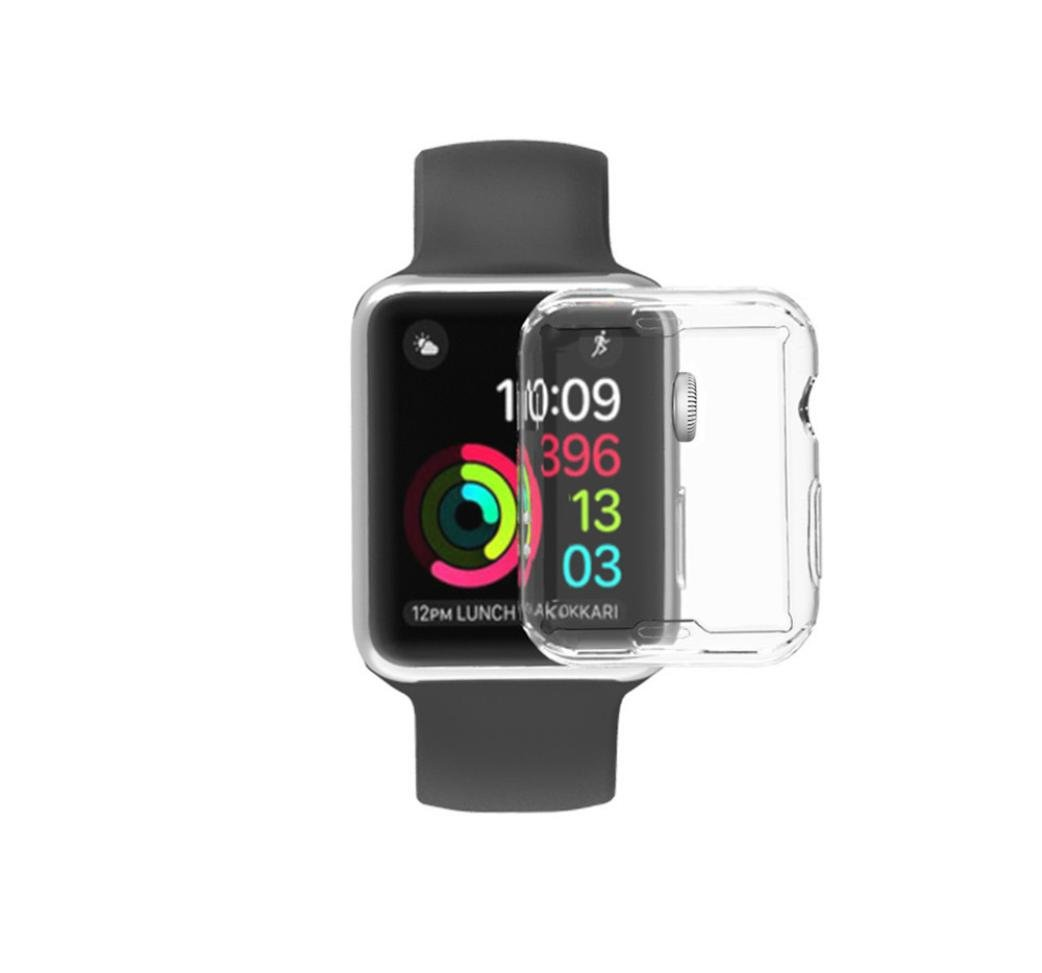 Gotd Ultra-Slim Electroplate TPU Soft Case Cover For Apple Watch Series 3 42mm (Clear)