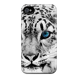 Hot Design Premium BMW2226BkvC Tpu Case Cover Iphone 5/5s Protection Case(snow Blue Eye Leopard)