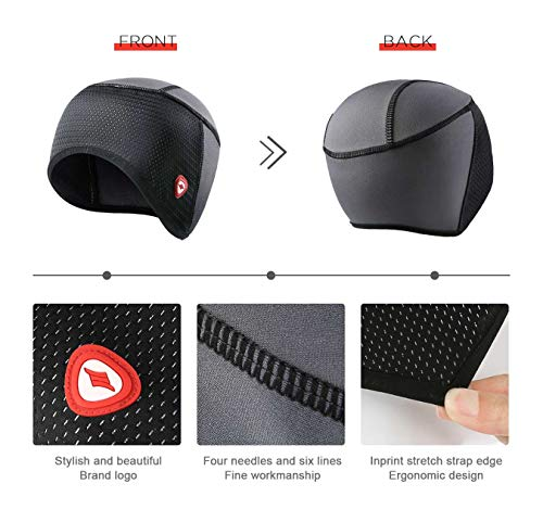 Cycling Skull Cap Helmet Liner Bicycle Hat Thermal Fleece Windproof STRETCHABLE