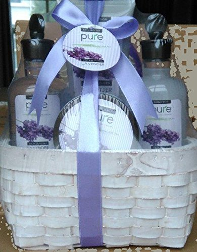 Large Lavender Spa Gift Basket. Spa Gift Basket with Lavender Bubble Bath u0026 Body Lotion etc. Large Spa Basket with Lavender Essential Oils Gift for Women ... & Large Lavender Spa Gift Basket. Spa Gift Basket with Lavender Bubble ...