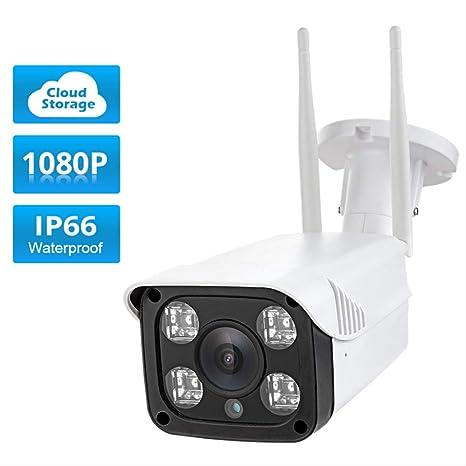 Cámara de Seguridad Full HD 1080p Impermeable WiFi Cámara IP ...