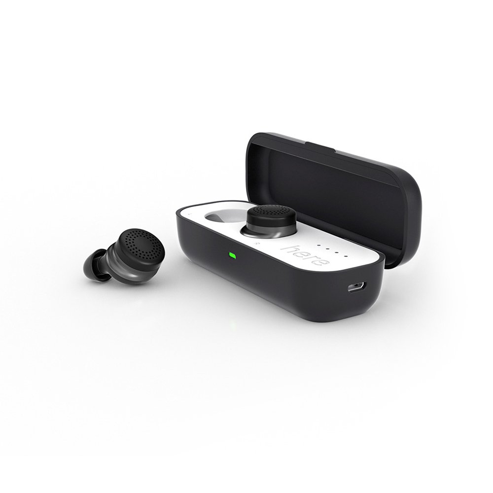 Here One Wireless Smart Earbuds: 3-in-1 Noise Cancelling & In Ear Bluetooth Headphones - iPhone Compatible (Black) by Doppler Labs (Image #2)