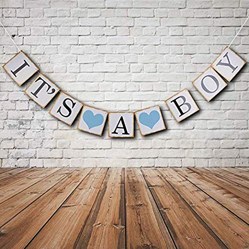 Its A Boy Sign (IT is A BOY Banner Bunting Christening Baby Shower Garland Decoration Birthday Party)