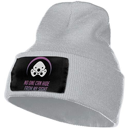 Eoinch Mens & Womens Overwatch Widowmaker Skull Beanie Hats Winter Knitted Caps Soft Warm Ski Hat Gray
