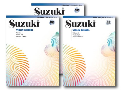 (Suzuki Violin School, Violin Part, With Piano Accompaniment CD - 3 Books with CDs Set - Includes Volume 4, Volume 5 and Volume 6)
