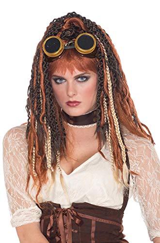 Forum Novelties Men's Steampunk Havoc Dreads Wig Adult Costume Accessory, Multicolor, One Size -
