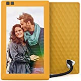 Nixplay Seed 7 Inch WiFi Cloud Digital Photo Frame with IPS Display, iPhone & Android App, Free 10GB Online Storage and Motion Sensor (Mango)