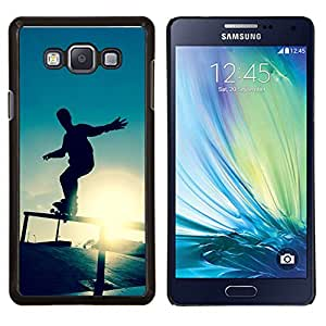 Jordan Colourful Shop - Skate Sunset For Samsung Galaxy A7 Personalizado negro cubierta de la caja de pl????stico