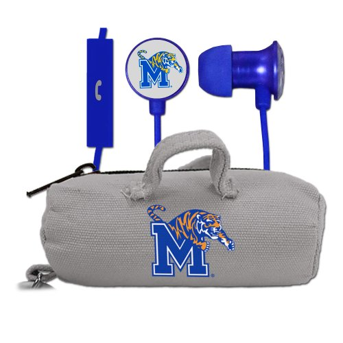 NCAA Memphis Tigers Scorch Earbuds and Mic Clamshell with - Memphis Bass Shop