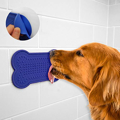 DOGLERON Lick Mat for Dogs, Dog Peanut Butter Lick Pad for Shower, Dog Bath Toy Grooming Accesories, Dog Training Attachment