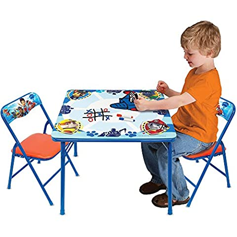 NEW! Paw Patrol Kids Erasable Activity and Play Folding Table and Chair Set with 3 Dry-Erase Markers