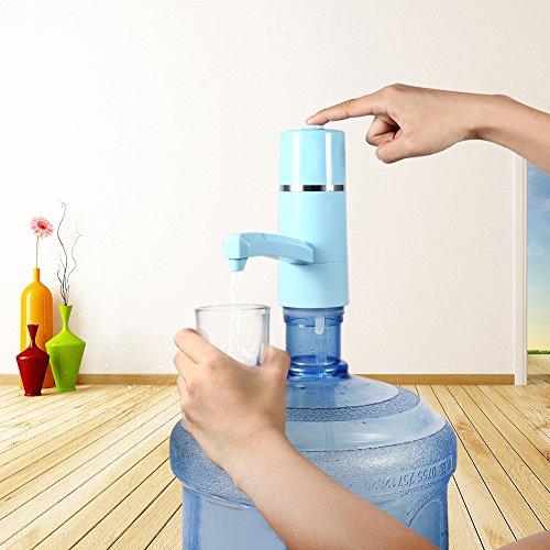 Dispensador de Bomba de Agua Recargable Dispensador Inalámbrico Eléctrico USB para Hogar y Oficina (Azul): Amazon.es: Hogar