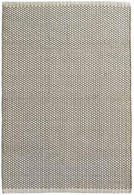 milanari – Alfombra de algodón Rectangular Rica (Gris-Natural ...