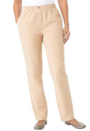 Women's Plus Size 100 Cotton Comfort Pull On Jean