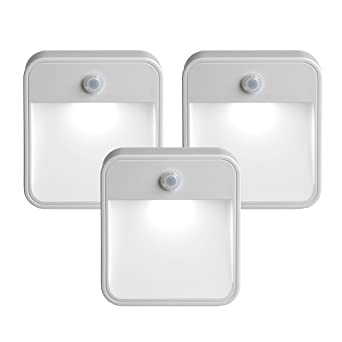 Creative Closet Led Night Light Battery-powered Security Stick-anywhere white - 3 Pack Sophisticated Technologies