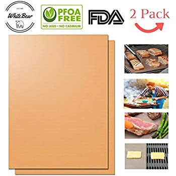 Copper Grill Mat, Copper Barbecue Grill Mat, Non-Stick Copper Grill Mat, FDA-Approved, PFOA Free, Easy to Clean and Reusable