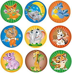 Mr.Stimer | Animal Stickers for Kids | 9 Designs | 200 pcs….