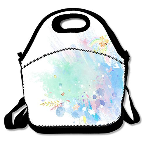 Neoprene Lunch Tote Insulated Reusable Picnic Lunch Bags Boxes for Men Women Adults Kids Toddler Nurses Inkjet ()