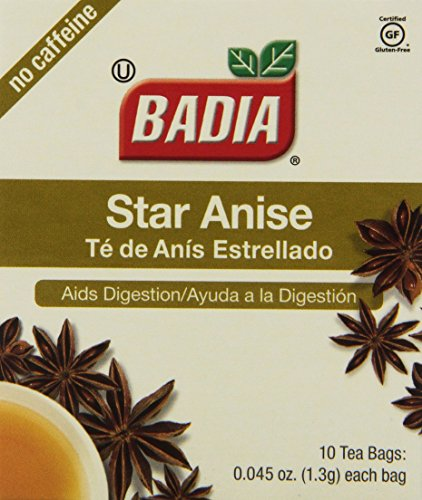 Badia Tea Star Anise, 10-Count (Pack of 20)