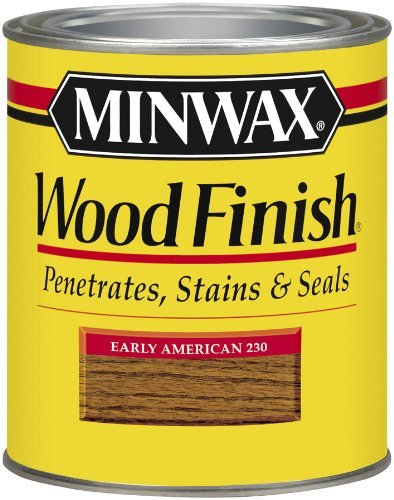 Minwax 22300 1/2 Pint Wood Finish Interior Wood Stain, Early American Color: Early American, Model: 22300, Tools & Hardware store - Early American Color