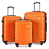 Luggage Set Suitcase Lightweight Carry On (Orange)