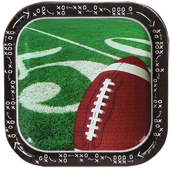 Football Plates Paper Party Supplies Supply Trays NFL Sports Tablecover Superbowl Game Day Tailgate 14 Plates (Nfl Day Games Christmas)