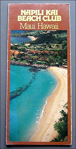 Vintage 1979 Napili Kai Beach Club Brochure, Maui, Hawaii