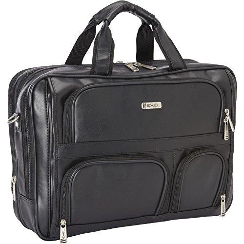 Heritage Double Compartment Expandable Laptop Case  Black