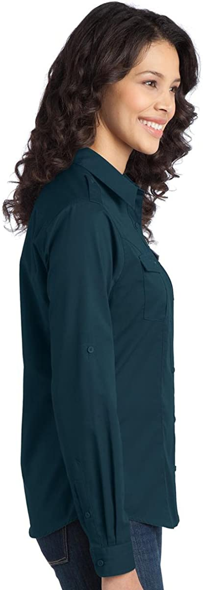 Port Authority Womens Long Sleeve Silk Touch Polo