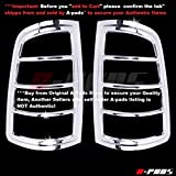 A-PADS Chrome Tail Light Covers for Dodge RAM 1500 2009-2017/2500 & 3500 2010-2016 - Rear Lights Taillights Bezel Pair