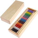Kofun Montessori Sensorial Material Learning Color Tablet Box Madera Preescolar Juguete 26x10x5 cm