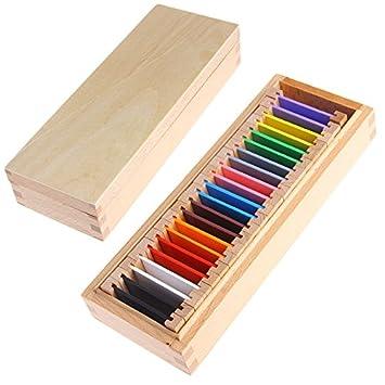 Kofun Montessori Sensorial Material Learning Color Tablet Box Madera Preescolar Juguete 26x10x5 cm: Amazon.es: Juguetes y juegos