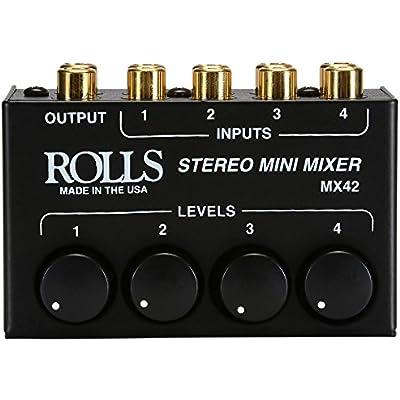 rolls-mx42-stereo-mini-mixer