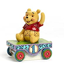 Jim Shore Disney Traditions Winnie The Pooh First 1 Birthday Part of Mickey's Birthday Train Series [parallel import goods]