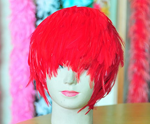 Red Hackle Feather Costume Wig Halloween Costume Coque Feather Wigs (Atlanta, GA)