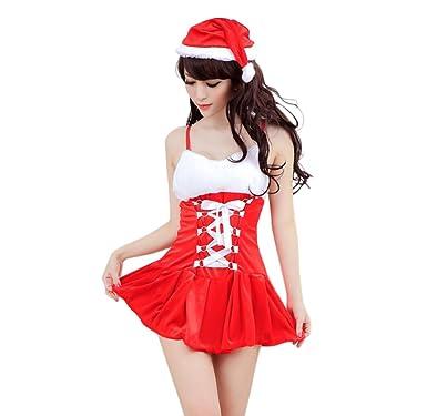 d50a1a31c7 Amazon.com: Christmas Costume Women Stripe Bow Knot Decor Condole ...