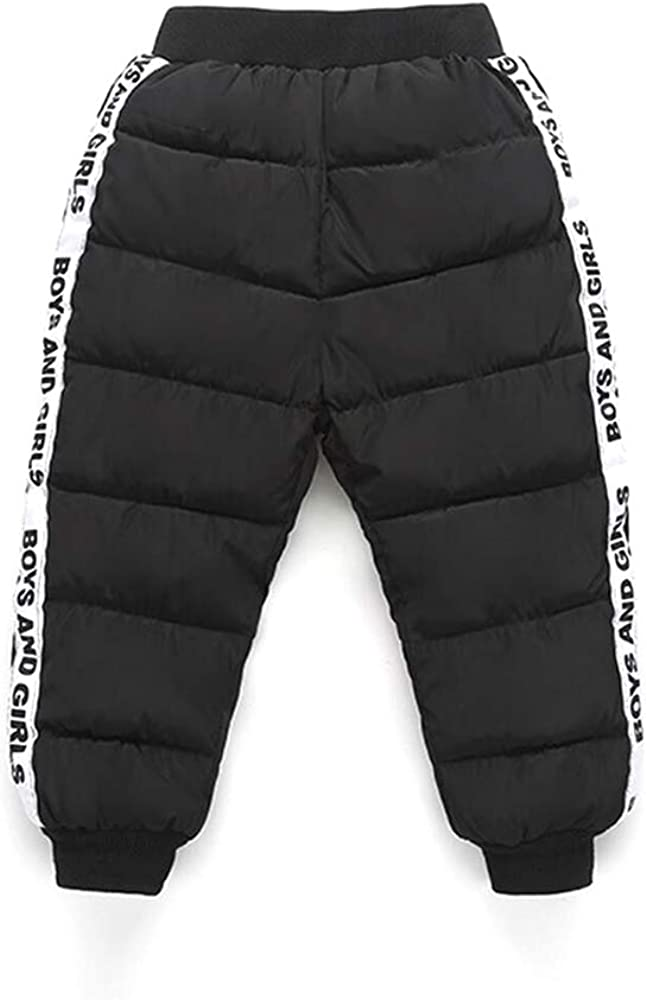 PAUBOLI Baby Down Pants Lightweight Warm Snow Pants Active Pants with Stripes on Side