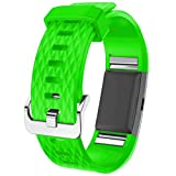 Watch Band, ABC® Luxury New Fashion Sports Silicone Bracelet Strap Watch Band for Fitbit Charge 2 (Small) (Green)