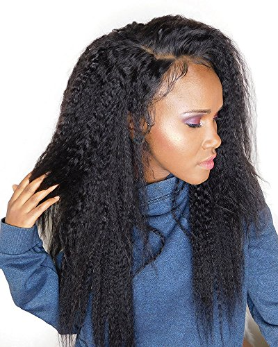 Search : Cici Collection Clip In Human Hair Extensions Brazilian Virgin African American Kinky Straight Clip in Hair Extensions Natural Clip Ins For Black Women (16inch, Kinky Straight)