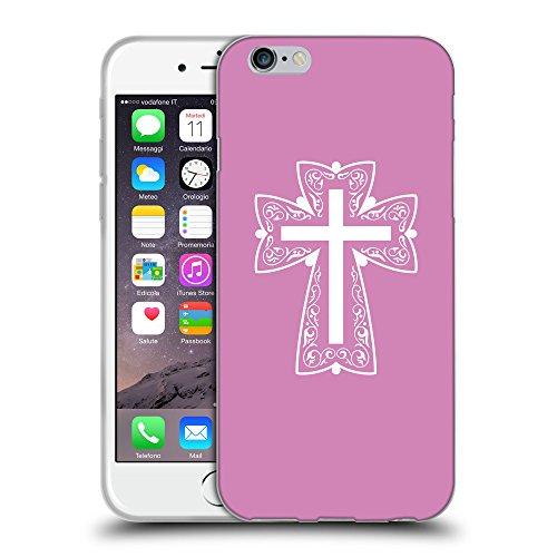 """GoGoMobile Coque de Protection TPU Silicone Case pour // Q09310618 Croix chrétienne 41 Bronze // Apple iPhone 6 4.7"""""""