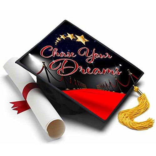 Chase Your Dreams Grad Cap Tassel Topper - Decorated Grad Caps - Quotes for Grad Cap ()