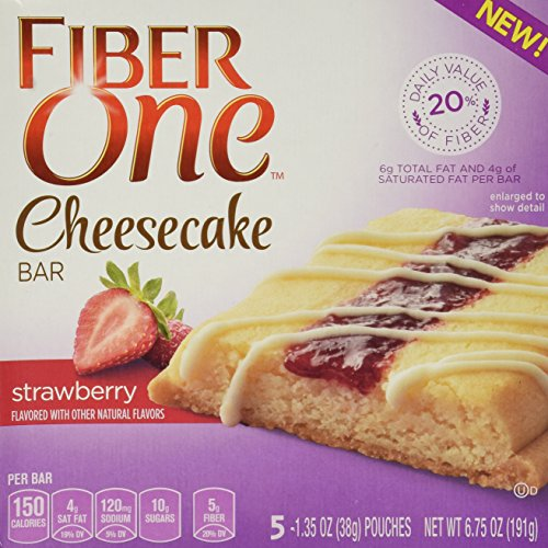 Fiber One Cheesecake Bar, Strawberry, Dessert