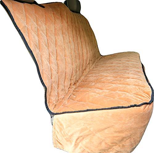 Plush Paws Ultra-Premium Velvet Pet Seat Cover, Without Hammock, Full Waterproof for Cars, Trucks & SUVs, Desert Sand Reg Size -