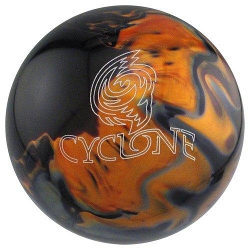 Ebonite Cyclone Bowling Ball, Black/Gold/Silver, 15