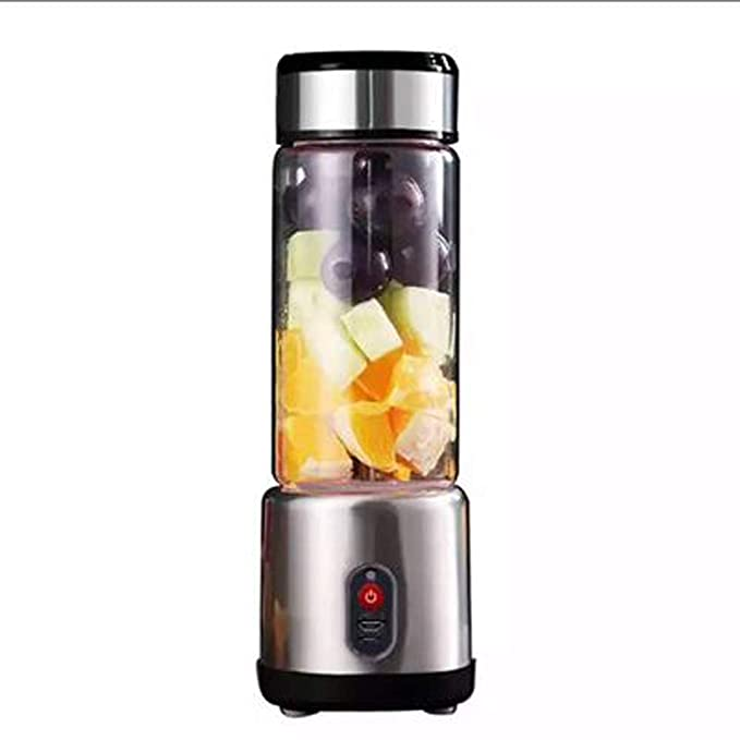 WGFGXQ Portable Juicer, USB Charging Multi-Functional Fruit Blender-6 Leaf Blade. Does Not Contain BPA,Black,6Leaves