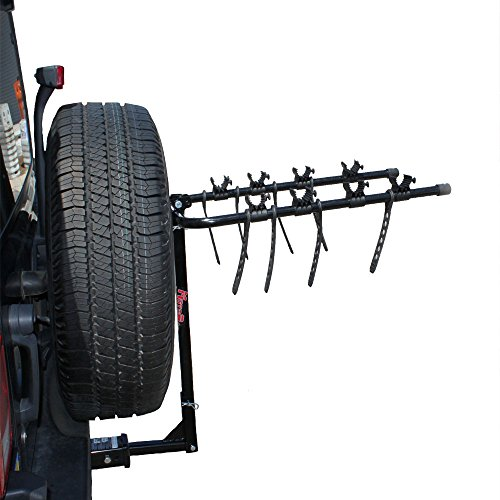 (MotoGroup Bike Rack for Car, Truck, or SUV w/Receiver Hitch - 4 Bike Carrier)