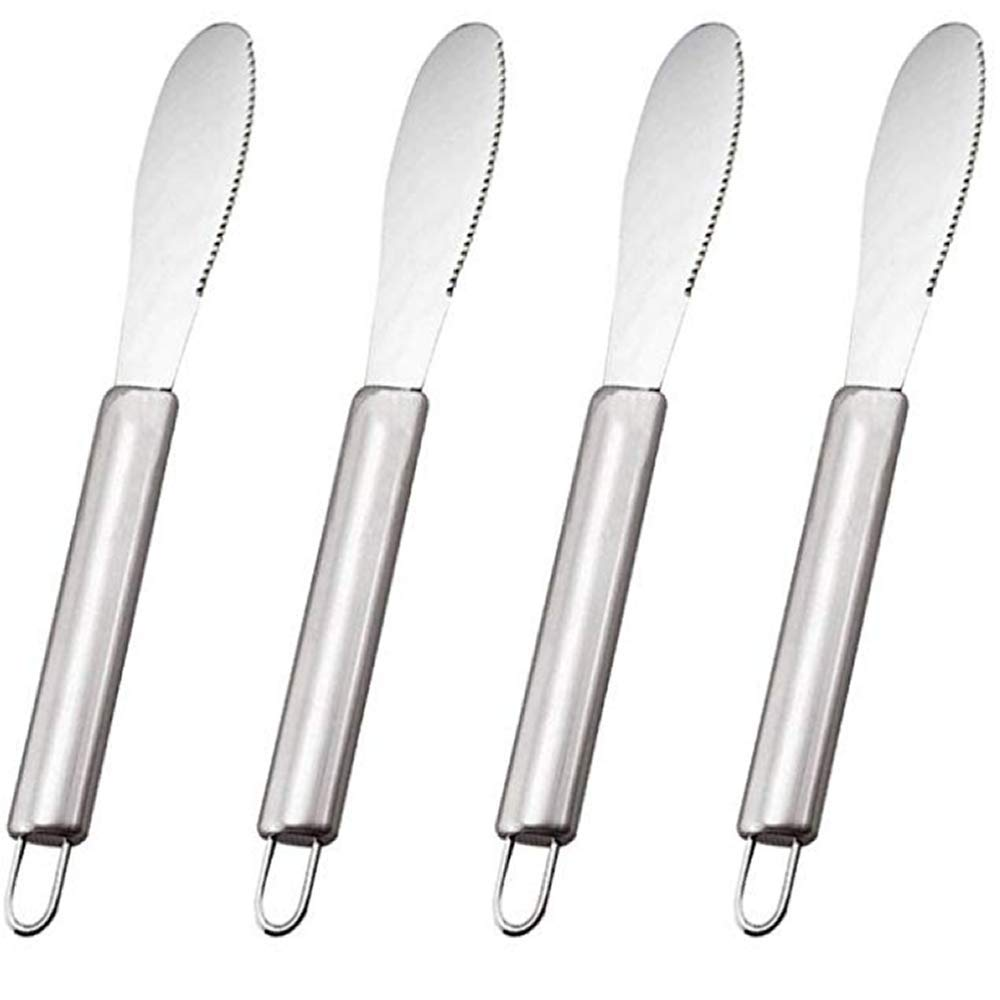 IETONE 4 Pack Butter Spreader Wide Knives Sandwich/Cream/Cheese/Condiment Spreaders Spatula Set Kitchen Tool Stainless Steel 8