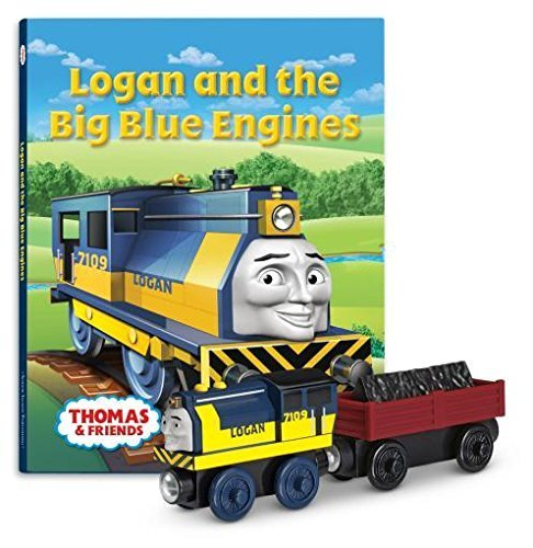 Fisher-Price Thomas & Friends Wooden Railway Logan and The Big Blue Engines Book Pack