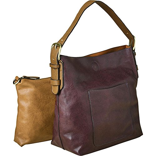 Clutch Small In 2 and Purse Bag Hobo Classic Vegan Women's Leather Shoulder Eggplant 1 8Z4xzq1wp