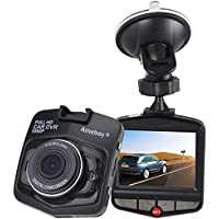 Amebay Dash Cam 2.4 FHD 1080P Car Vehicle Dashboard DVR Camera Video Recorder with 16GB Micro SD Card,Black